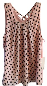 Elle Top Pink w/ black polka dots