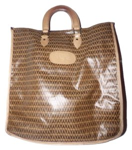 Valentino V Logo Design Tote in Brown