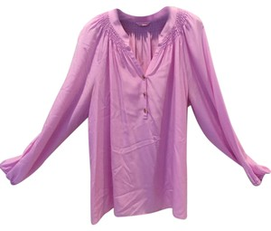 Lilly Pulitzer Tunic Top Light pink with gold buttons