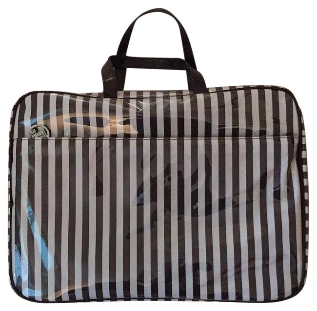 Item - 27942363660193 Brown & White Coated Canvas Weekend/Travel Bag