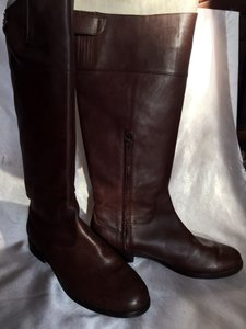 Ralph Lauren Leather Luxury Studded Brown Boots