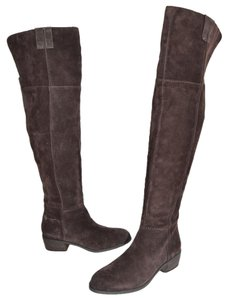 Sam Edelman Over The Knee Tall Riding CHOCOLATE SUEDE Boots