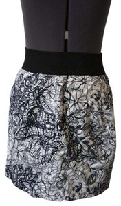 Zara Office Work Floral Mini Skirt Multicolored
