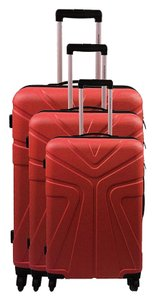 Jean-Louis Scherrer Jean Louis Scherrer Francfort 3 Piece Spinner Luggage Set Red