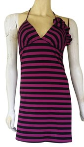 Voom by Joy Han short dress Purple Striped Mini Stretch on Tradesy