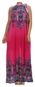 Pink, Blue, Tan Maxi Dress by Other Plus Size Curvy