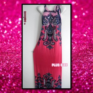 Pink Maxi Dress by Other Plus Size Kaftan Curvy