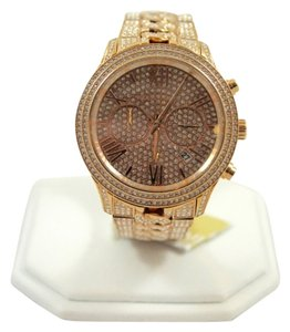 Michael Kors Michael Kors Rose Gold Lindley Pave Crystal Watch