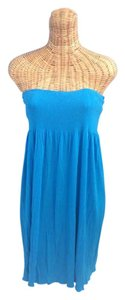 Juicy Couture short dress turquoise Strapless on Tradesy