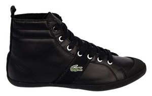 Lacoste Sneakers High Ankle Black Leather Athletic