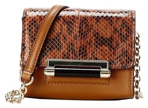 Diane von Furstenberg Leather Snakeskin Dvf Cross Body Bag