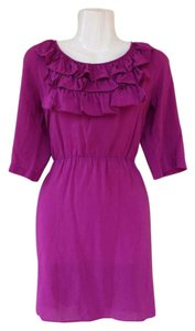 Other short dress purple, magenta A New York Ruffle Sleeves Silk on Tradesy