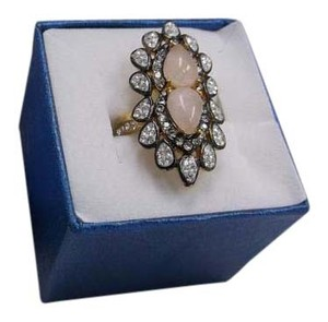 Other Rose Quartz Gemstone Ring Size 6 w Free Shipping