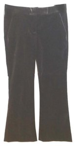 Theory Black Velvet Straight Pants DARK BROWN