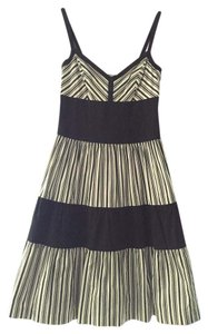 Anthropologie short dress Black & White Striped And on Tradesy