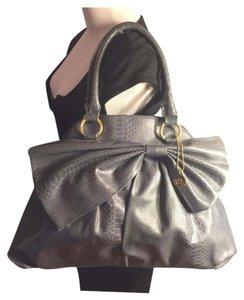 Big Buddha Satchel in Gray/Gold