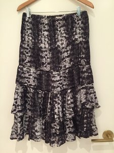 Isabel Marant Tiered Pour H&m Skirt Purple/Ivory Snakeskin Print