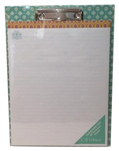 C.R. Gibson DECORATIVE CLIPBOARD PAPER PAD NEW free ship