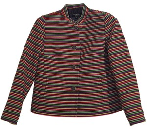 Talbots Multi colored stripes with metallic threading Blazer