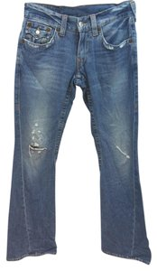 True Religion Cotton Boot Cut Jeans-Light Wash