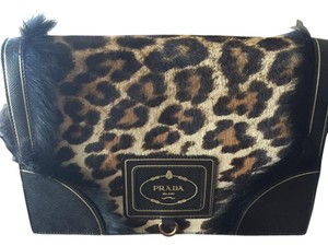 Prada Calf Hair Satchel Vintage Shoulder Bag