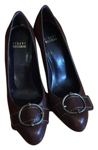 Stuart Weitzman Leather Brown Pumps