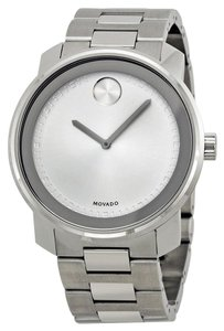 Movado Silver tone Dial Stainless Steel Designer MENS Casual Dress Watch