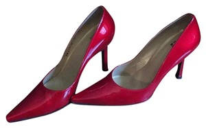 Stuart Weitzman Patent Pump Red Pumps