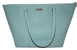 Kate Spade Newbury Lane Dally Perforated Tote in Grace Blue