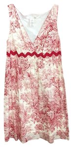 Max Studio short dress Red and white Toile Summer on Tradesy