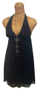 Lotta Stensson Silk Halter Embellished Embroidered Dress