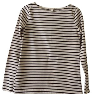 J.Crew Nautical Boatneck T Shirt Navy stripe