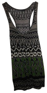 Forever 21 Top Brown & Green Tribal Print