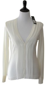 Daisy Fuentes Cream Off White Sweater Cardigan