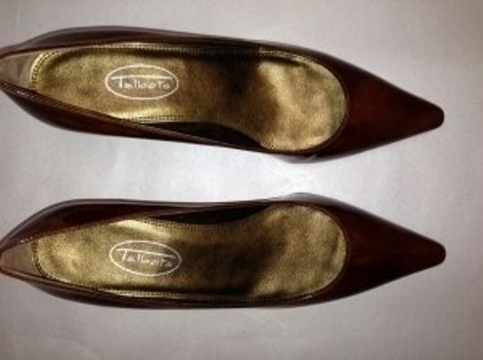 Talbots Brown textured patent leather Pumps