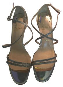 Christian Louboutin Evening Sparkle Silver Sandals