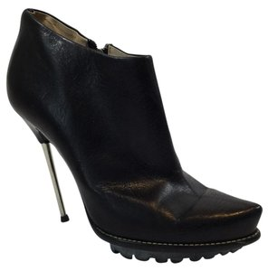 Giuseppe Zanotti Ankle Platform Leather Black Boots