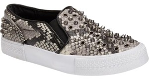 Steve Madden Peace Love Shea Slip On Sneaker Snake Sneaker Printed Slip On Grey Athletic