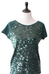 Ann Taylor LOFT Sequin Top Green