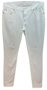 7 For All Mankind Jeans Skinny Pants WHITE