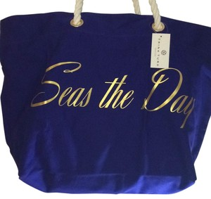 Trina Turk Tote in Navy Blue