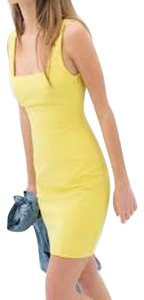 Zara short dress Yellow Fitted on Tradesy