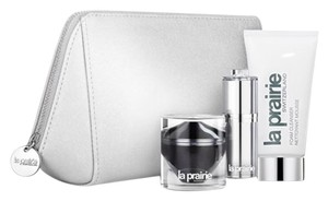 la prairie La Prairie Metallic Light Silver Cosmetics/Makeup Bag/Case