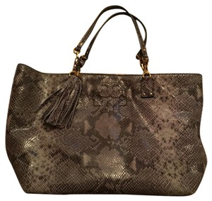 Tory Burch Tote in Grey Snakeskin