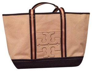 Tory Burch canvas tote Tan Beach Bag