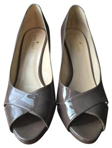 Kate Spade Patent Leather Leather Latte Pumps