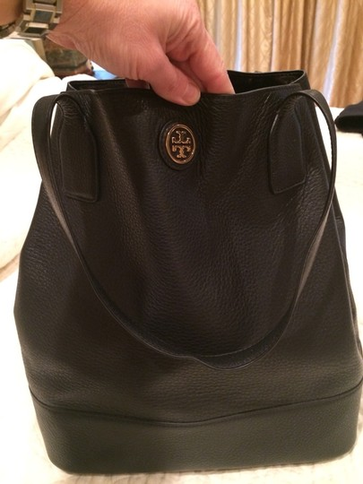 0f721dbaab1 Tory Burch The Michelle Black Leather Tote - Tradesy