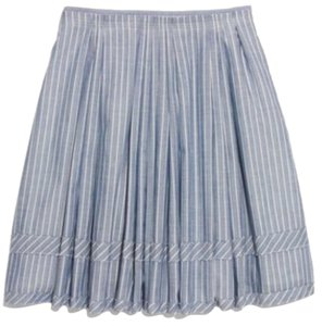 Madewell Mini Skirt Stripe blue and white