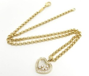 Chopard Chopard Happy Diamonds 18k Yellow Gold Heart Necklace