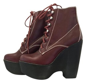 Jeffrey Campbell Wedge Burgundy Boots
